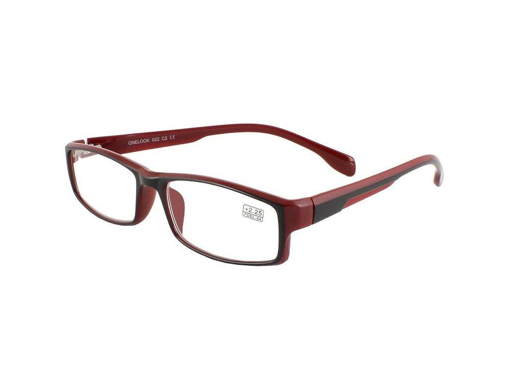 Dioptrické brýle Onelook 022 /+1,00  vínová