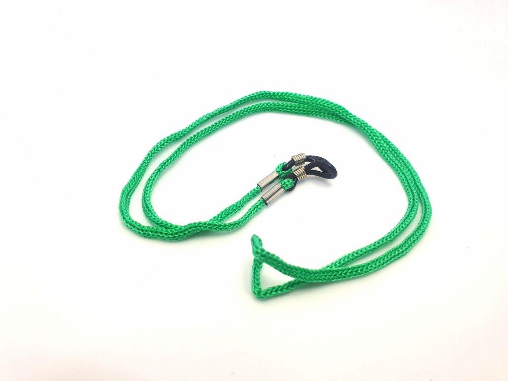 Šňůrka na brýle zelená