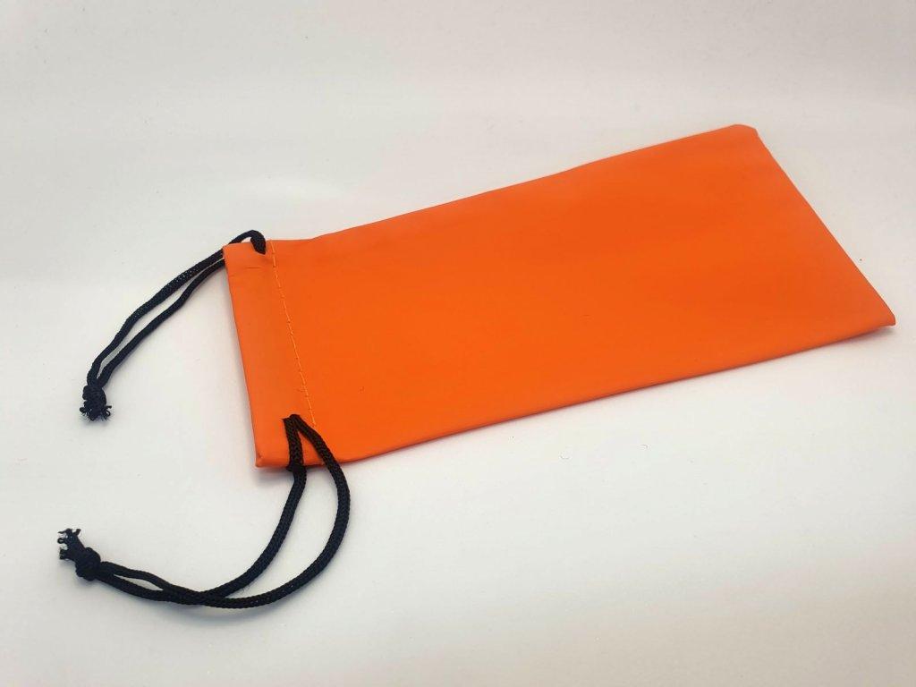 Pytlík vodě-odolný na brýle oranžový