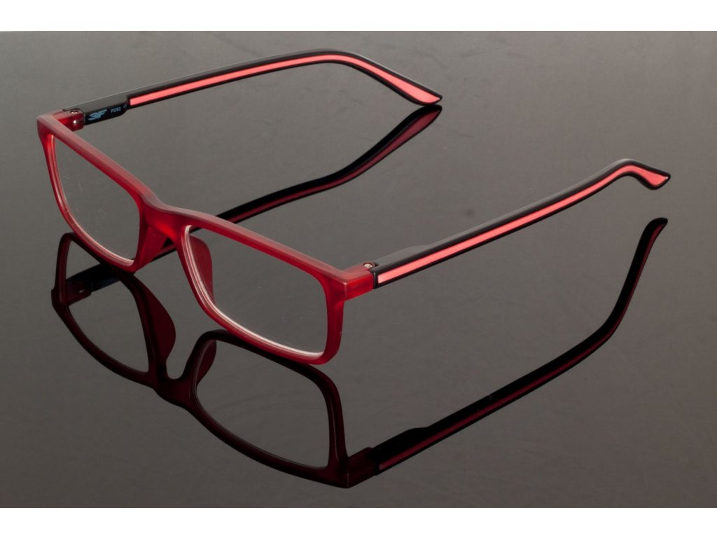 Dioptrické brýle 5652 +3,00 RED s pérováním