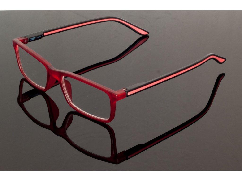 Dioptrické brýle 5652 +0,50 RED s pérováním