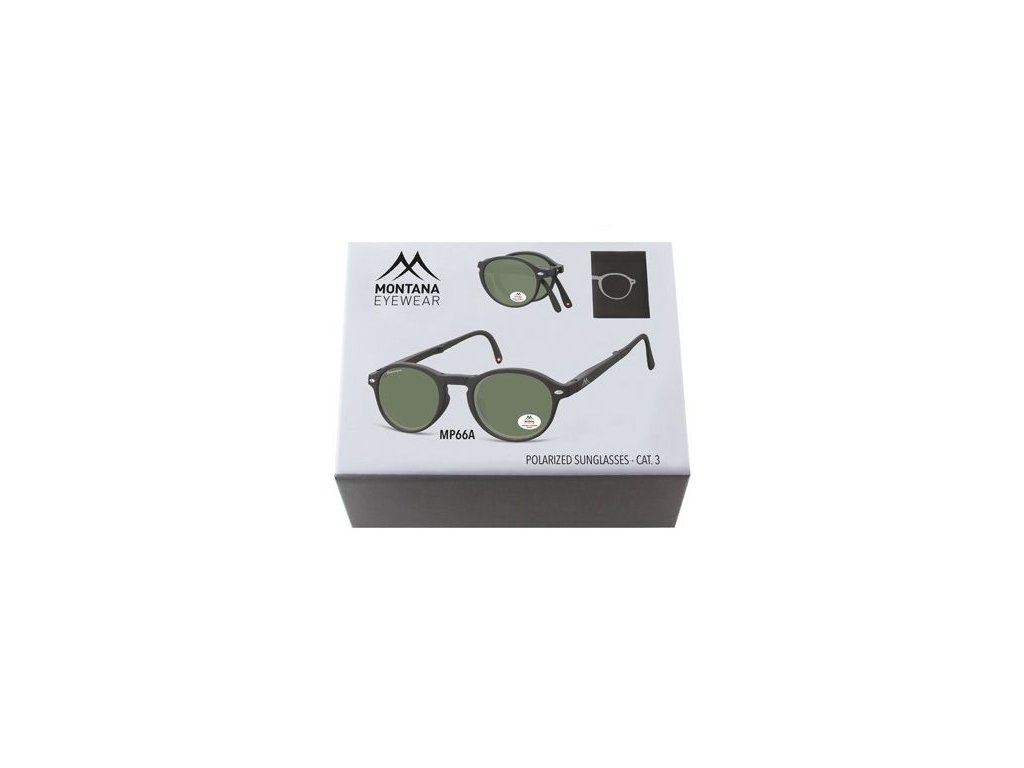 MONTANA EYEWEAR Sluneční skládání brýle BOX-MP66A polarizační čočka