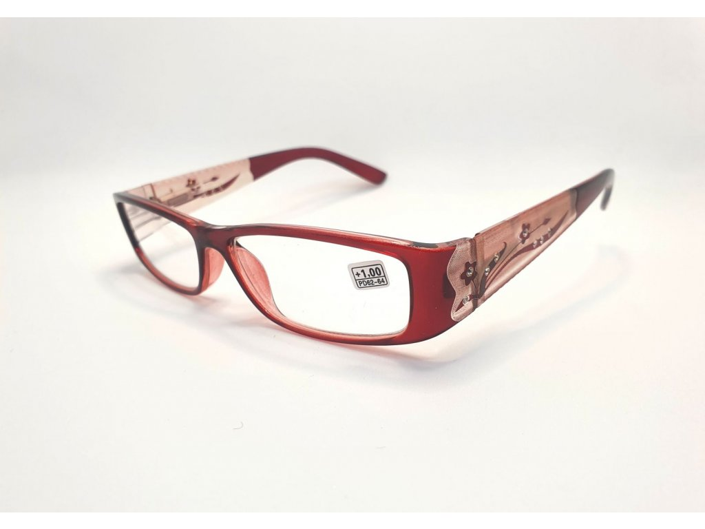 Dioptrické brýle 8890 /+1,00 vínové