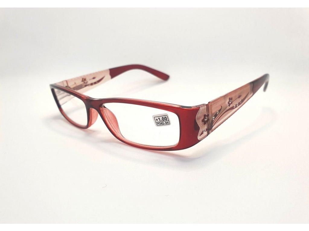 Dioptrické brýle 8890 /+1,25 vínové