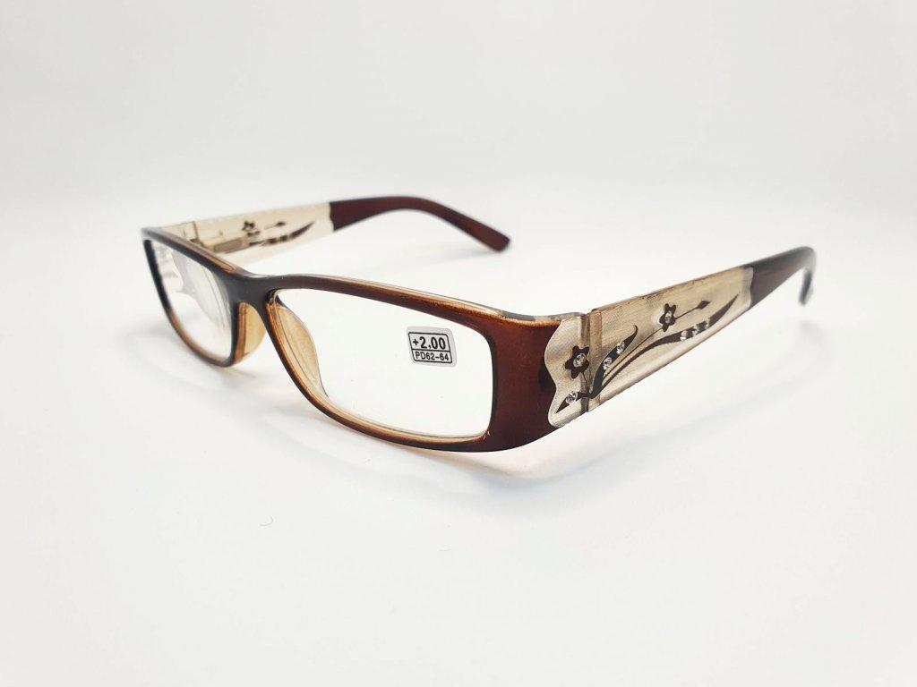 Dioptrické brýle 8890 /+1,50 hnědé
