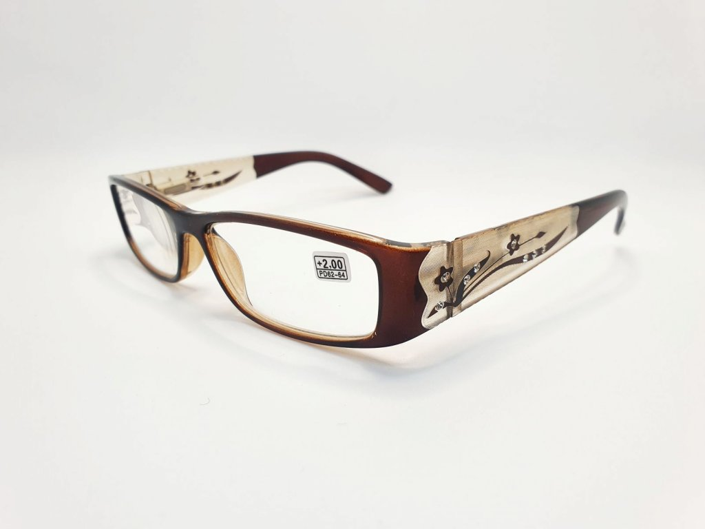 Dioptrické brýle 8890 /+2,00 hnědé