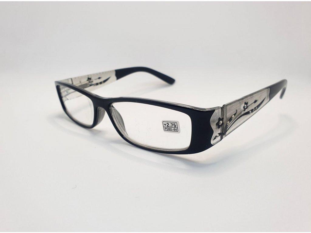 Dioptrické brýle 8890 /+2,25 černé
