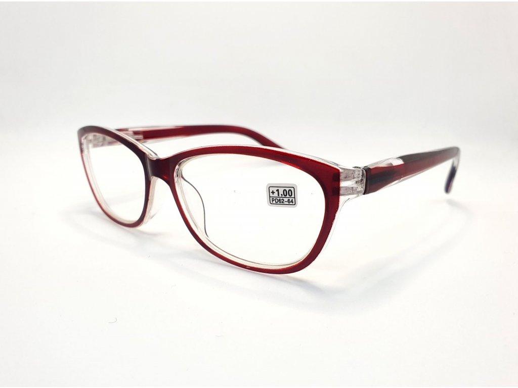 Dioptrické brýle 9537 /+1,00 vínová