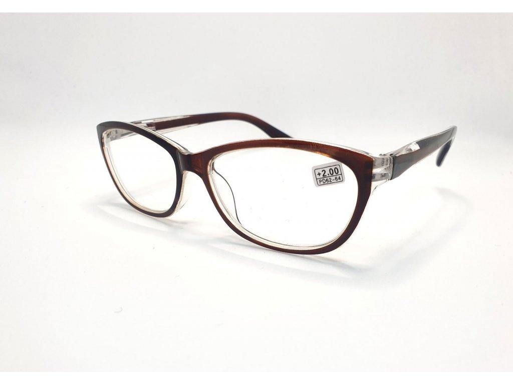 Dioptrické brýle 9537 /+2,00 hnědá