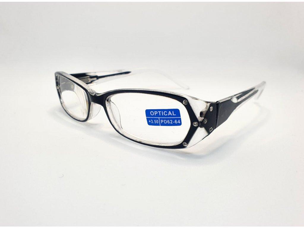 Dioptrické brýle OPTICAL TR894 /+3,50 černé