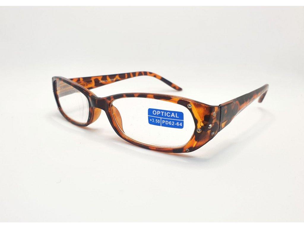 Dioptrické brýle OPTICAL TR894 /+1,50 hnědá