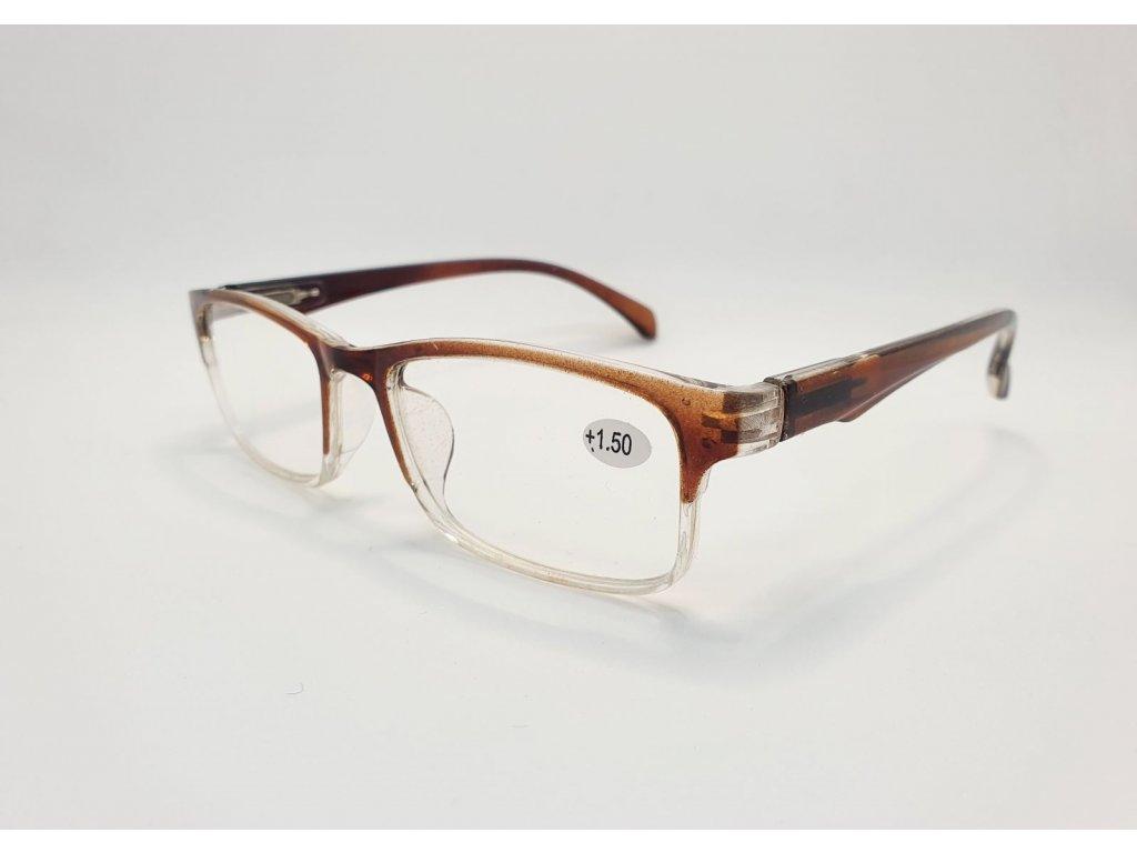 Dioptrické brýle 8622 /+2,50 hnědá