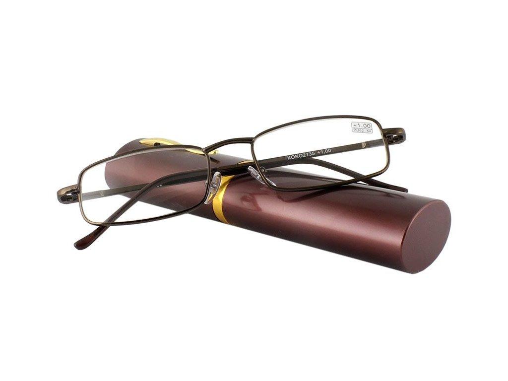 Dioptrické brýle v pouzdru Vizzini 03-0084-H01/ +3,25 BROWN