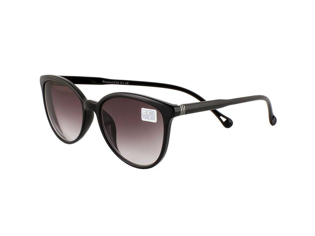 Dioptrické brýle RESPECT 018/+1,00 ZATMAVENÉ ČOČKY