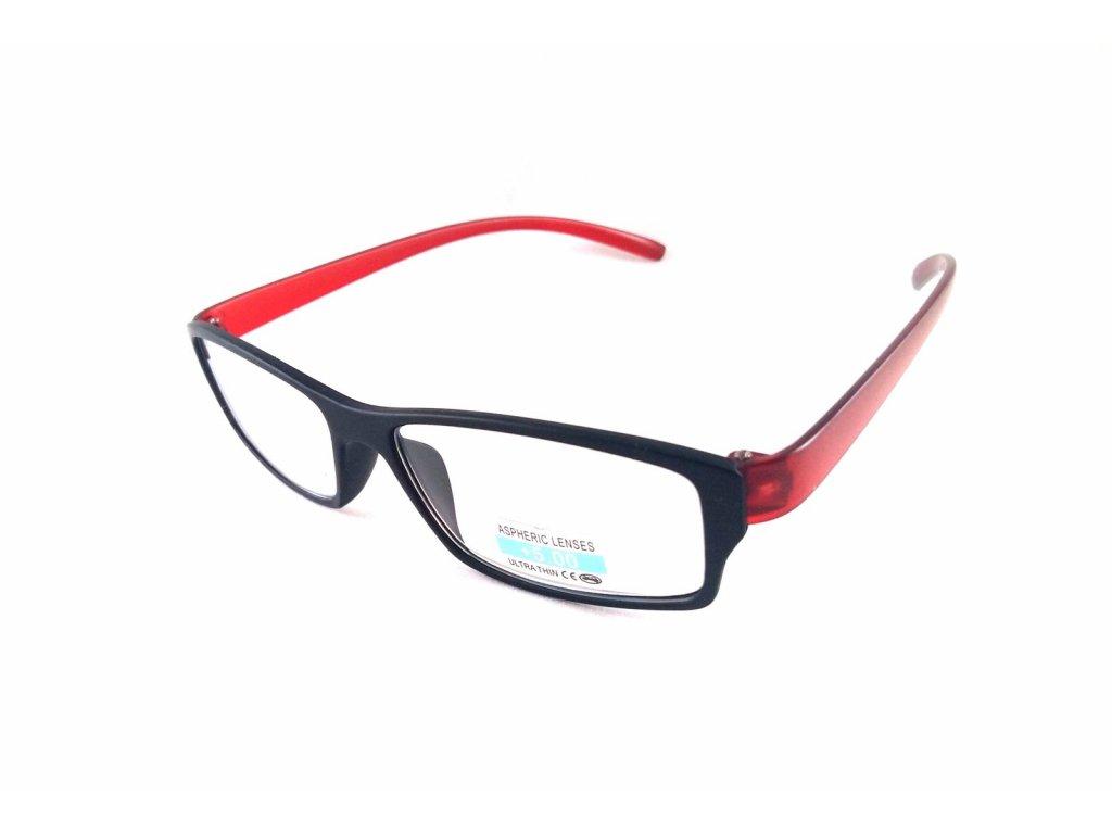 Dioptrické brýle P2.03/ +4,00 červená nožička