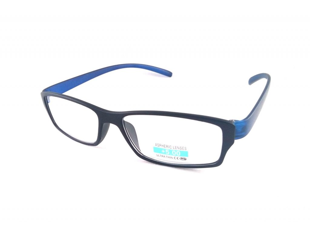 Dioptrické brýle P2.03/ +4,00 modrá nožička