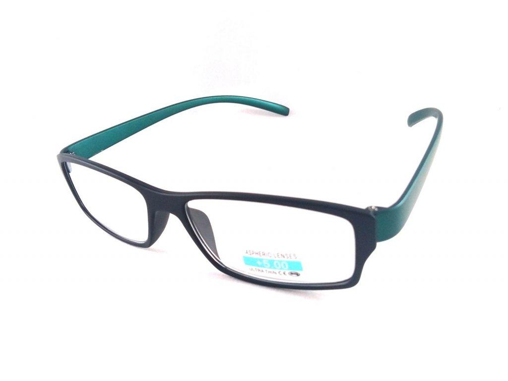 Dioptrické brýle P2.03/ +4,00 zelená nožička