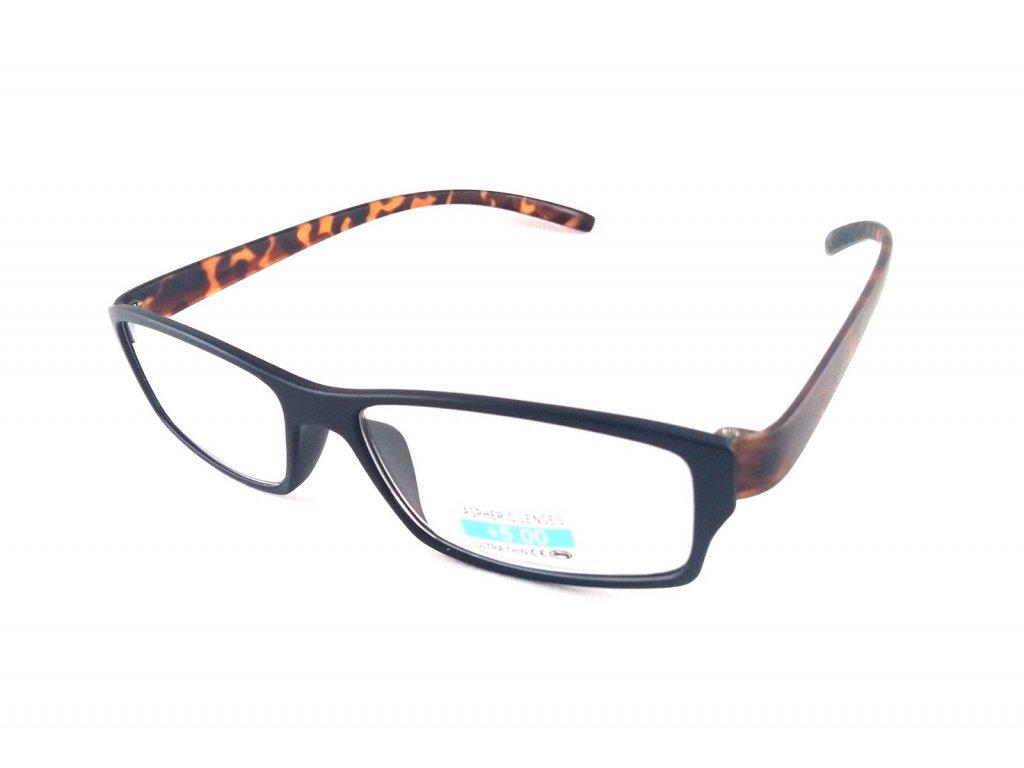 Dioptrické brýle P2.03/ +4,00 hnědá nožička