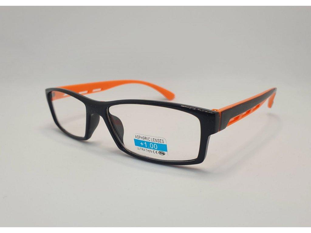 Dioptrické brýle 2R06/ +1,00 BLACK-ORANGE