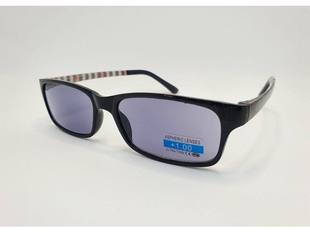 Dioptrické brýle 2R09/ +2,00 BLACK ZATMAVENÉ