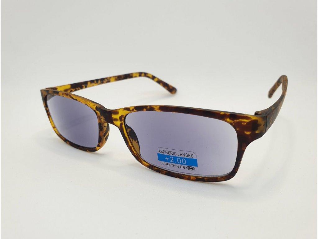 Dioptrické brýle 2R09/ +3,50 BROWN ZATMAVENÉ