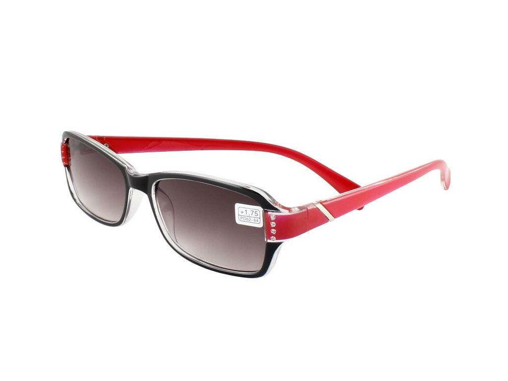 Dioptrické brýle 2231/+2,00 ZATMAVENÉ ČOČKY