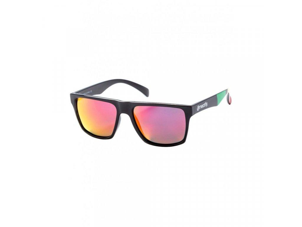 Sluneční brýle Meatfly Trigger 2 Sunglasses - S19 E - Black Glossy, Red