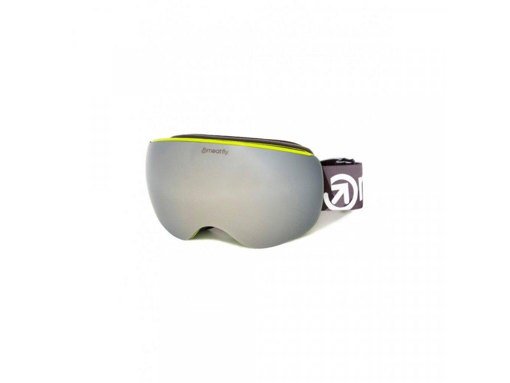 Snowboardové brýle Meatfly Ekko XL 2 C - Lime
