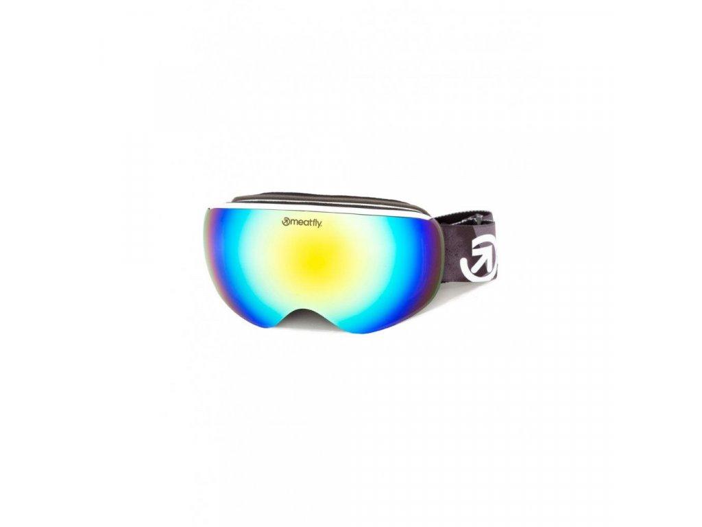 Snowboardové brýle Meatfly Ekko S 2 D - White, Lime