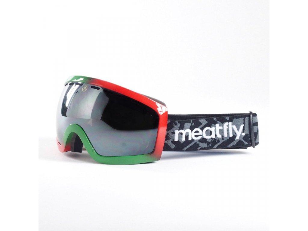 Brýle Meatfly Sphere 2 Goggles D - Rasta, Black Chrome