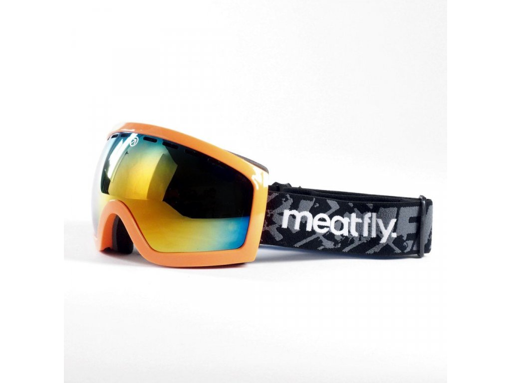Brýle Meatfly Sphere 2 Goggles B - Safety Orange, Red Chrome