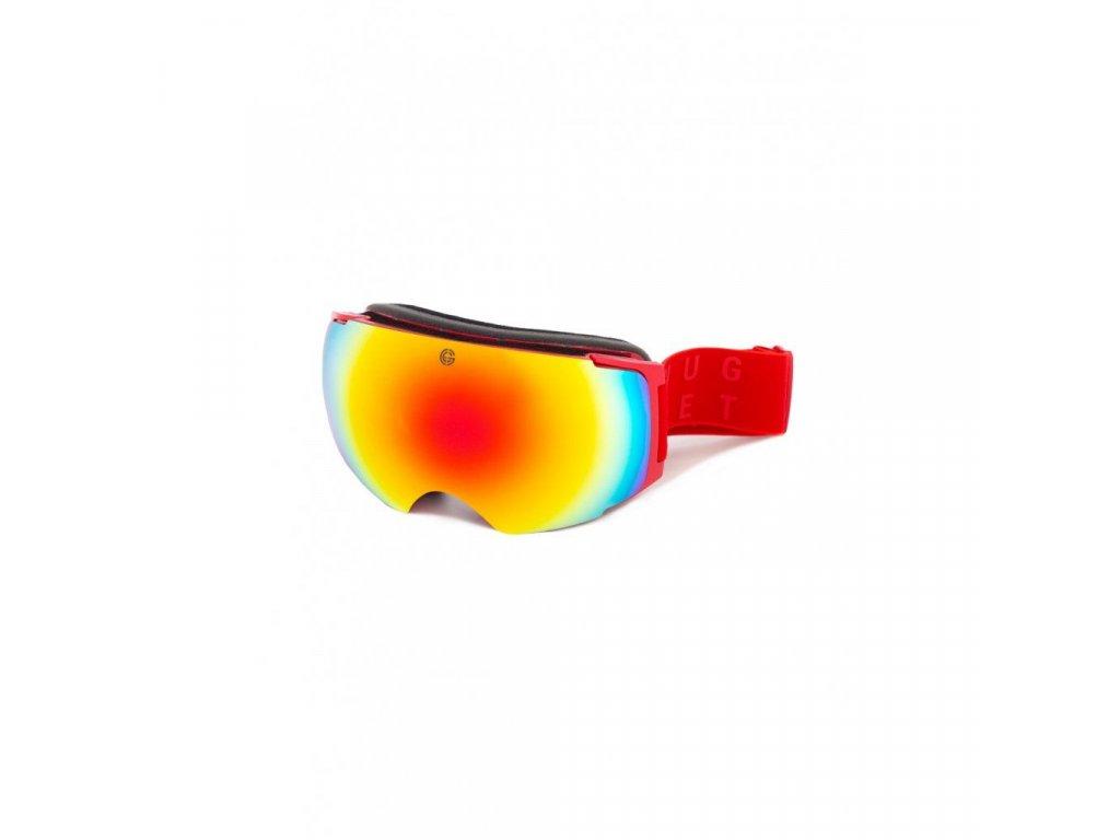 Snowboardové brýle Nugget Discharge 4 D - Red
