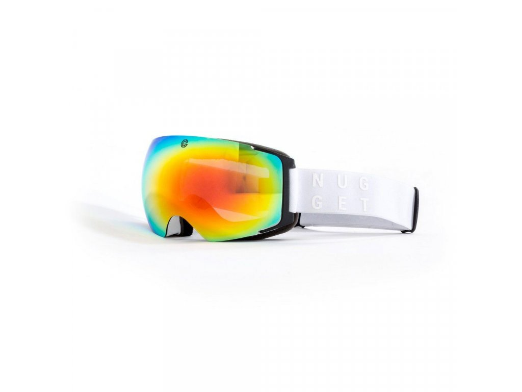 Brýle Nugget Discharge 2 Goggles A - White/Red Chrome