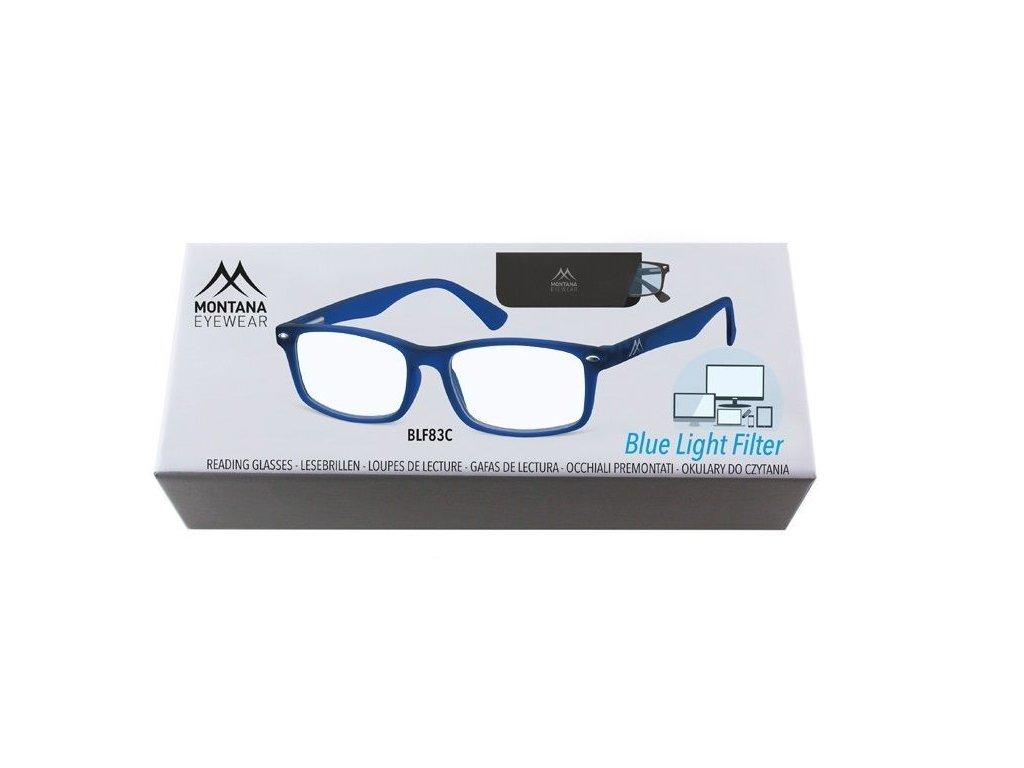 MONTANA EYEWEAR Brýle na počítač BLF BOX 83C BLUE +3.00
