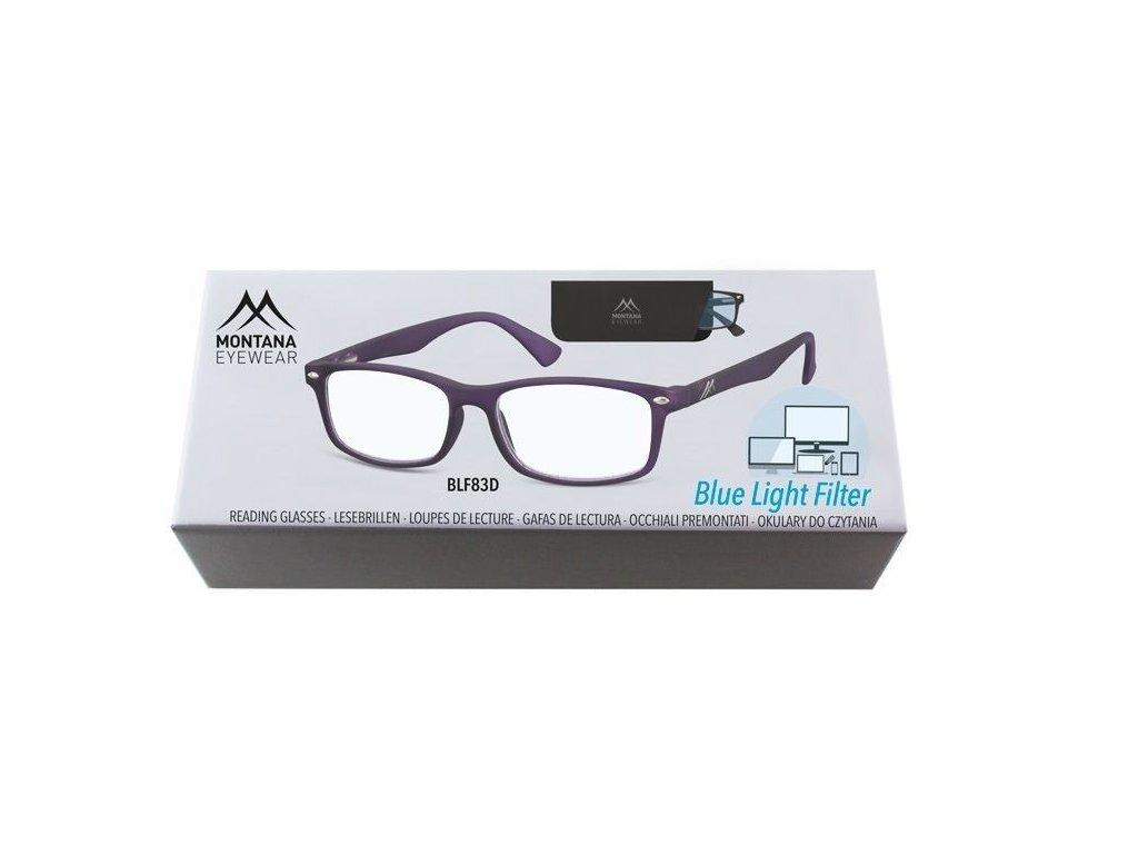 MONTANA EYEWEAR Brýle na počítač BLF BOX 83D +2,50