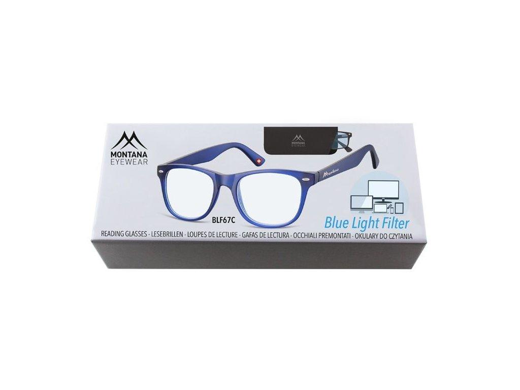MONTANA EYEWEAR Brýle na počítač BLF BOX 67C +3,50