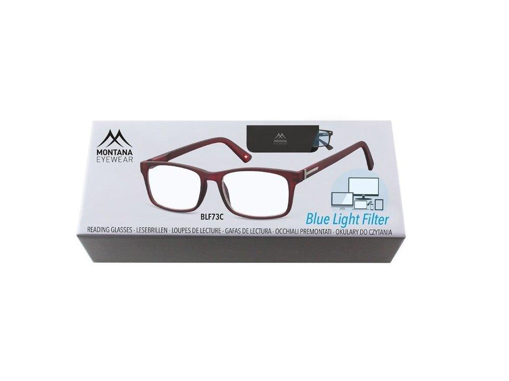 MONTANA EYEWEAR Brýle na počítač BLF BOX 73C +1,50