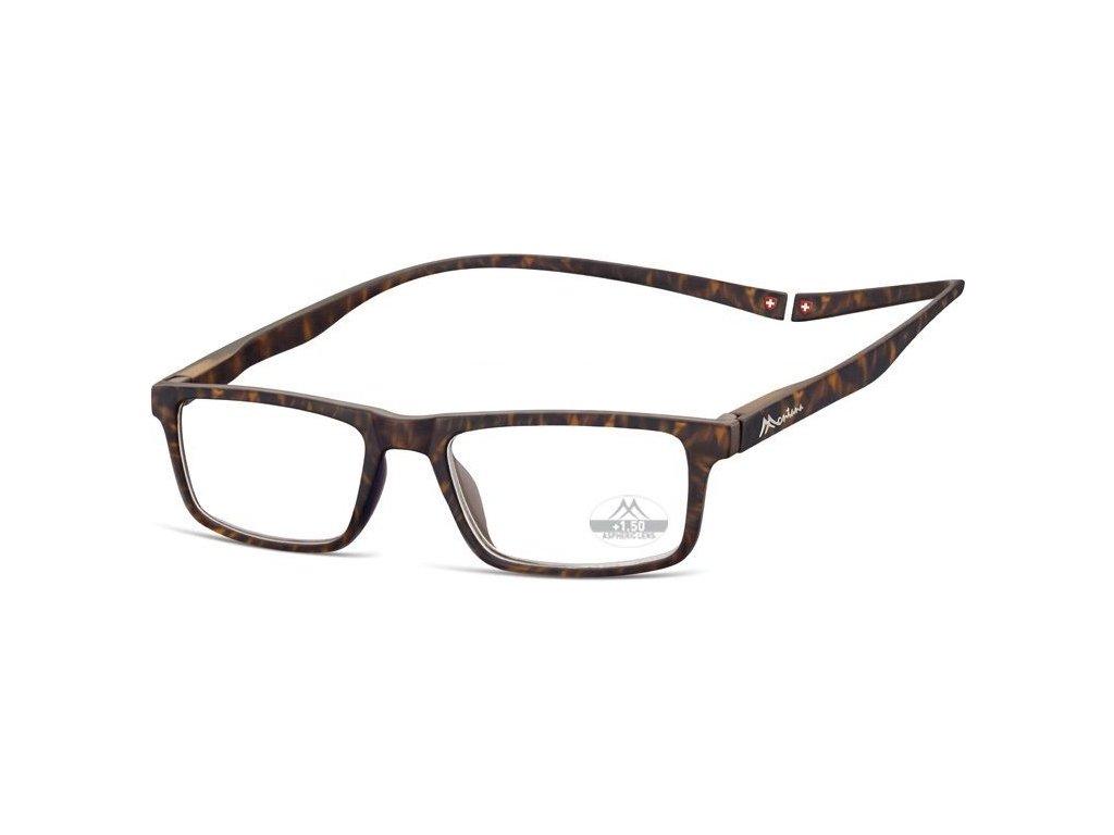 MONTANA EYEWEAR Brýle na čtení s magnetickým spojem za krk MR59A/+2,00