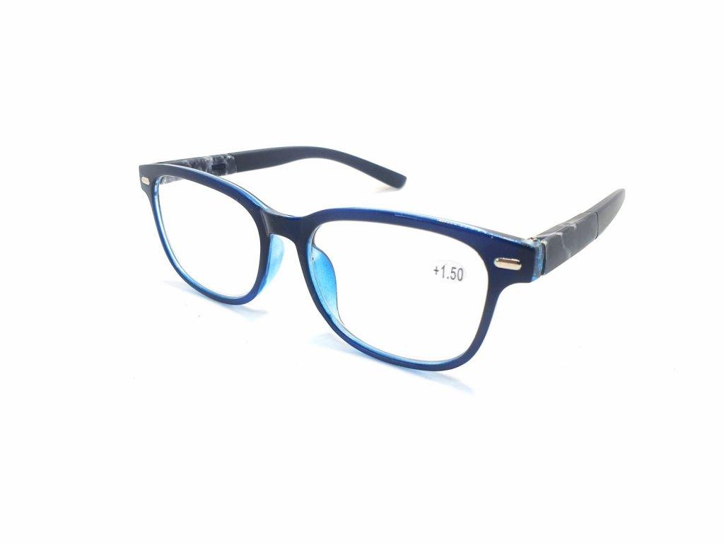 Dioptrické brýle Y18186 / +2,50 s pérováním modrý