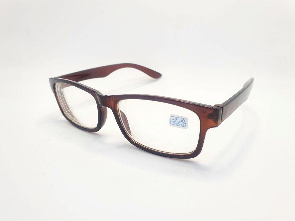 Dioptrické brýle na krátkozrakost 6242 / -4,00 BROWN