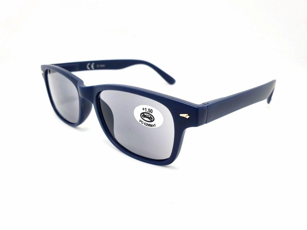 Dioptrické brýle SV2123/ +1,50 s flexem blue zatmavené