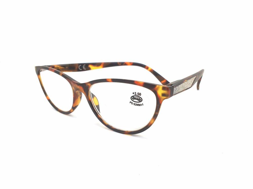 Dioptrické brýle SV2024/ +3,50 s flexem brown