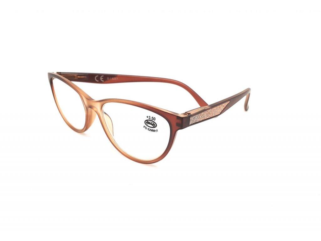 Dioptrické brýle SV2024/ +2,50 s flexem brown2
