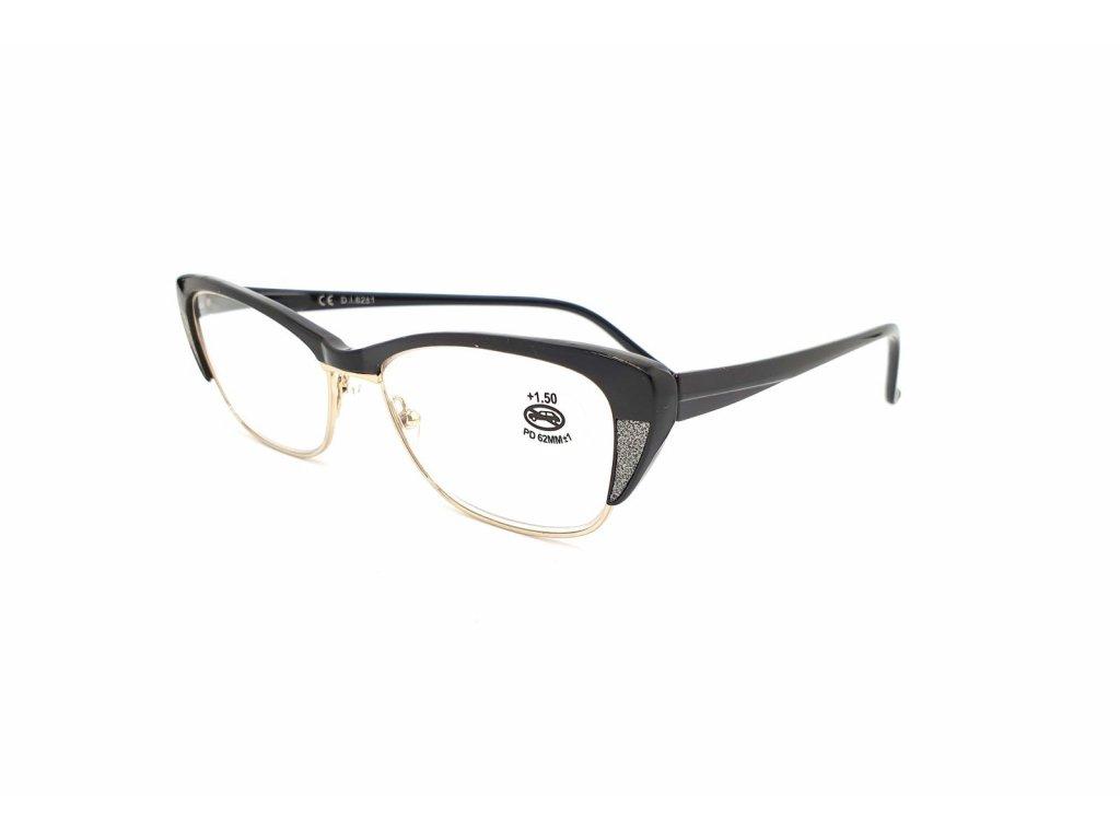 Dioptrické brýle SV2067/ +3,0 s flexem black