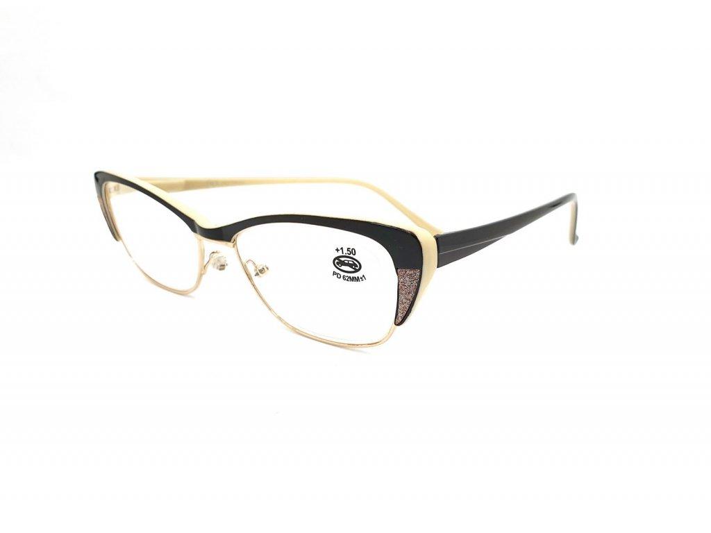 Dioptrické brýle SV2067/ +2,50 s flexem béžové
