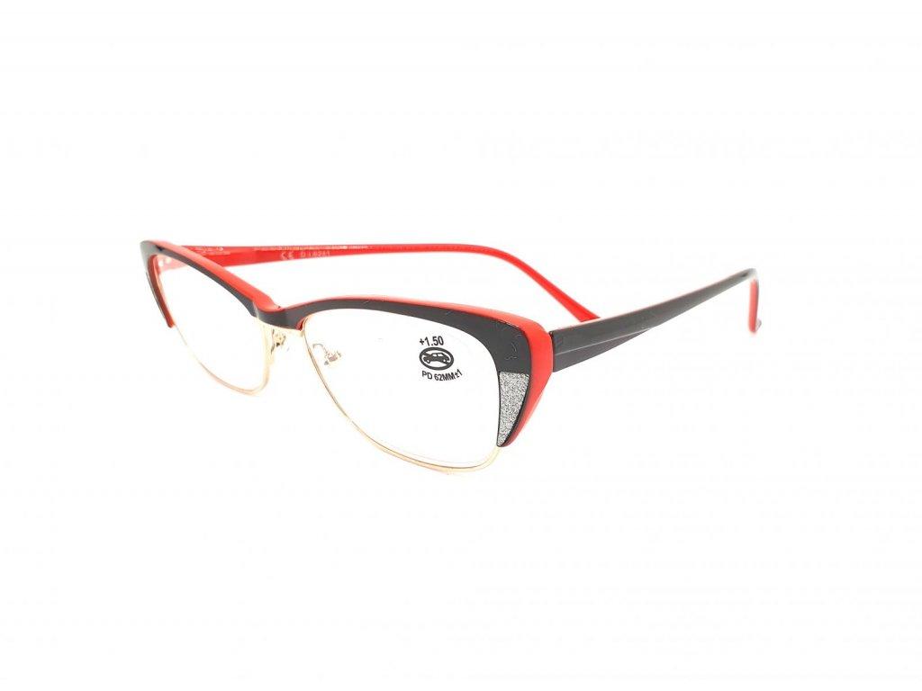 Dioptrické brýle SV2067/ +3,00 s flexem red