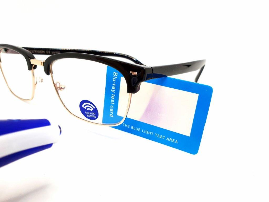 SeeVision Brýle na počítač BOX LG0805+tester proti modrému světlu