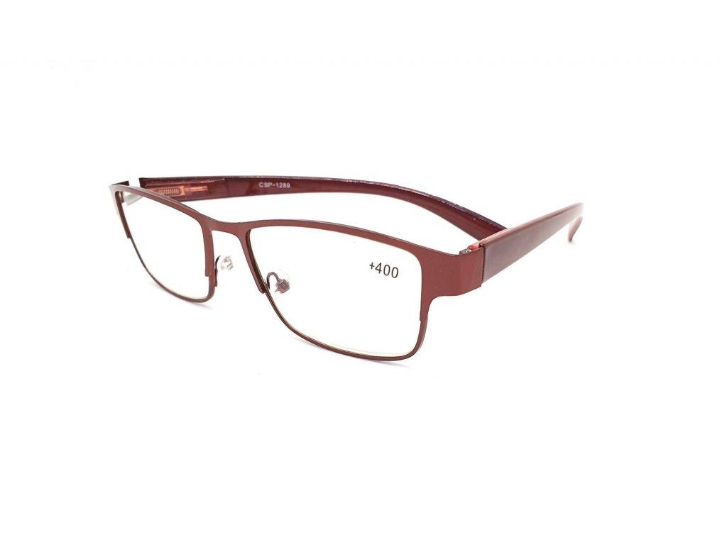 Dioptrické brýle CSP1289/ +2,00 s flexem bronze