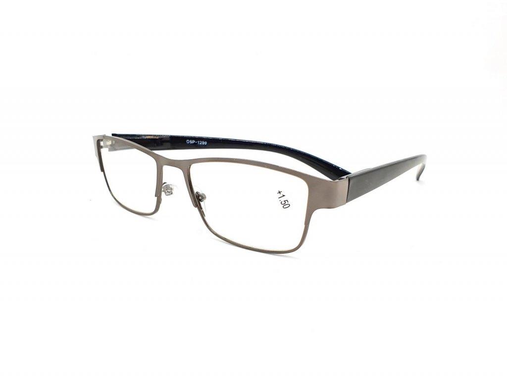 Dioptrické brýle CSP1289/ +1,50 s flexem gray