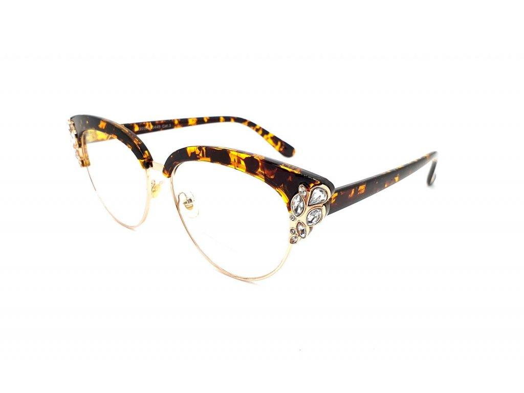 Brýle na okrasu či ochranu s UV 400 brown